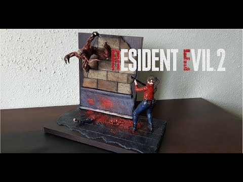 Claire Redfield vs Licker from Resident Evil 2 Remake  -  Polymer Clay Tutorial