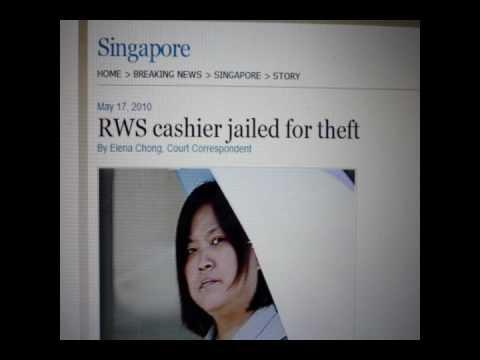 Singapore Casino RWS Cashier Jailed For Theft