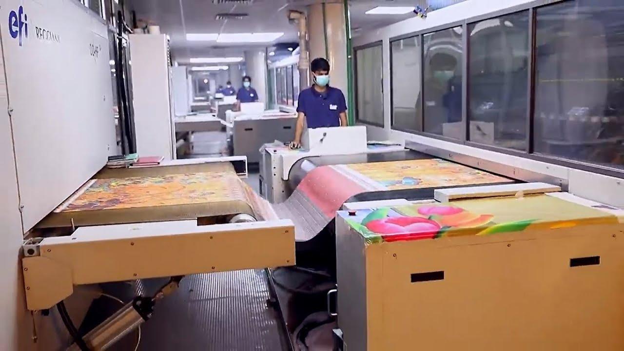 Digital Fashion Printing On Fabric Hunbultex Youtube