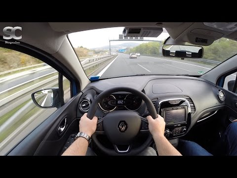 Renault Captur 1.5 dCi (2016) on German Autobahn - POV Top Speed Drive