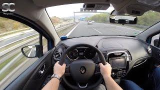 Renault Captur 1.5 dCi (2016) on German Autobahn - POV Top Speed Drive