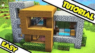 Minecraft Survival Modern House Tutorial (How to Build) Video