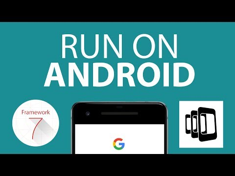 Deploy Framework7 apps to Android with PhoneGap/Cordova