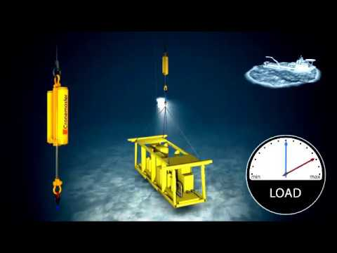 Subsea installation with Cranemaster passive heave compensator