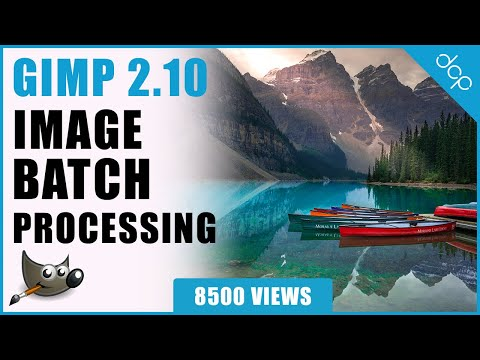 GIMP 2.10 - BIMP Plugin Install Tutorial - Batch Image Processing