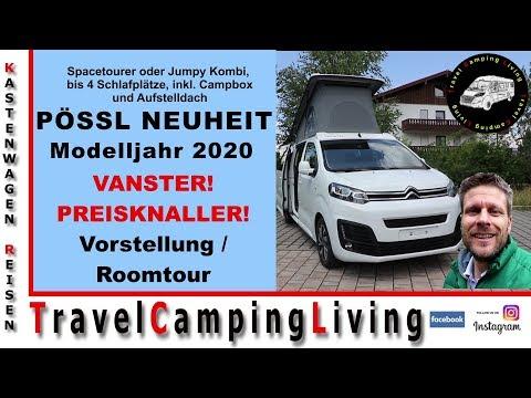 Pössl VANSTER! | Neuheit Modelljahr 2020 | Spacetourer oder Jumpy Kombi mit Campbox, Campingbus