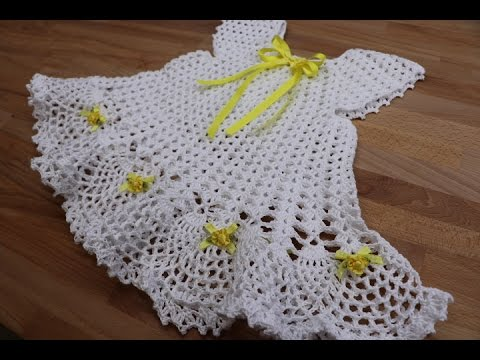 vestido crochet para ni a de 18 meses a 2 a os youtube. Black Bedroom Furniture Sets. Home Design Ideas