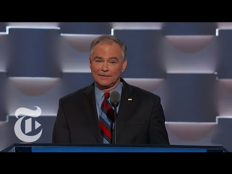 Tim Kaine Accepts Vice-Presidential Nomination | The New York Times
