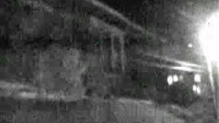Very scary ghost in a hospital window