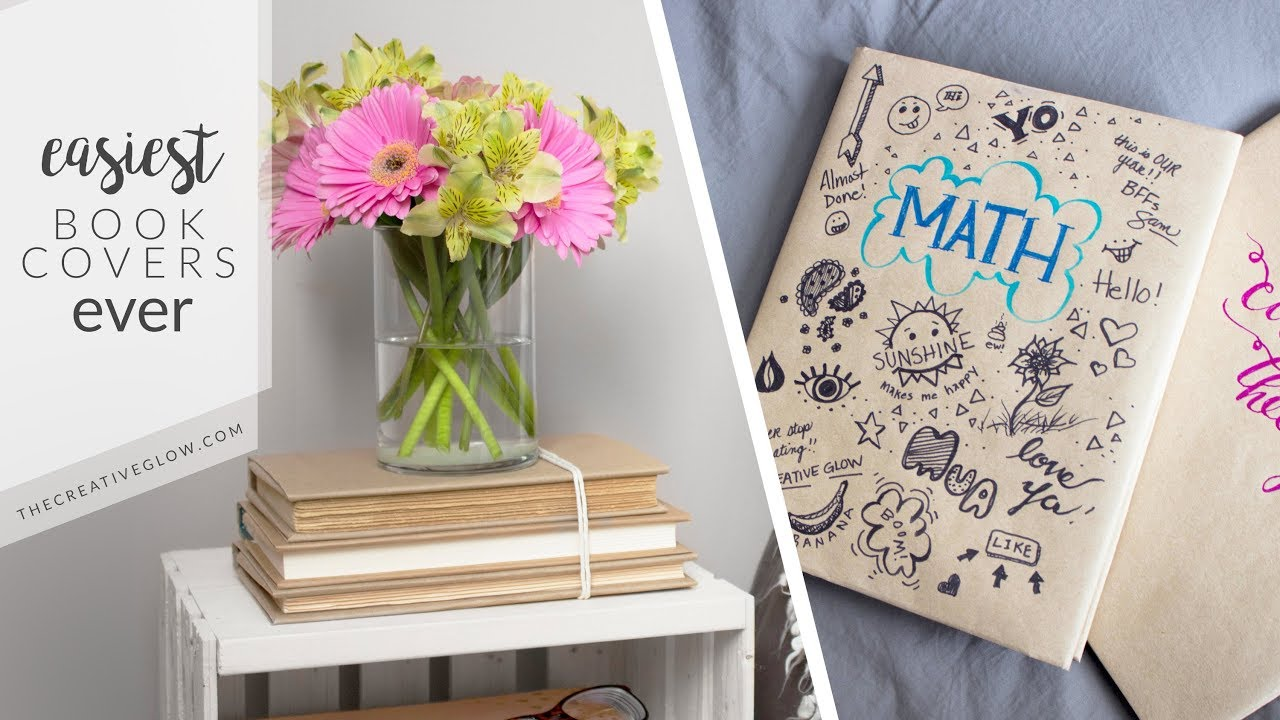 Creative Book Covers For School : Super easy book covers school home decor youtube