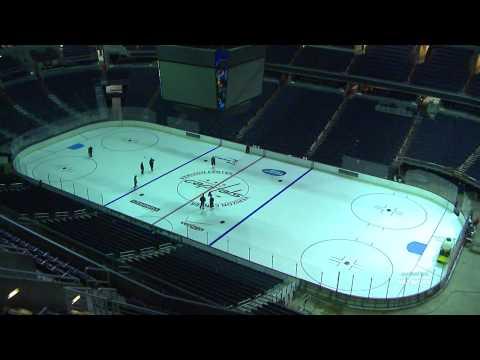 Verizon Center Ice Building Timelapse - 9/11/14