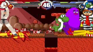 Donald & Dragon Claw vs Yoshi Vore & The Kung Fu Man MUGEN Battle!!!