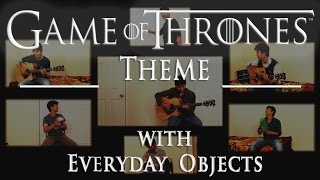 GAME OF THRONES THEME ft.  Book, Bottle, Playing cards etc. and Guitar