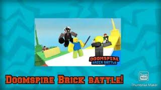 Playing Doomspire Brick battle // ROBLOX