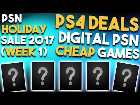 10 GREAT PS4 DIGITAL PSN Sale Deals Available NOW! (Best Playstation 4 HOLIDAY SALE Deals Week 1)