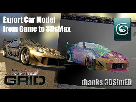 Export Car Model from Racing Game to 3dsMax |