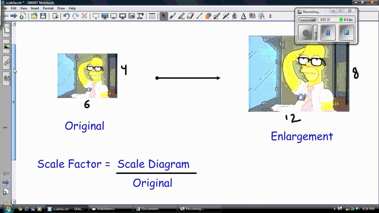 enlargement factor