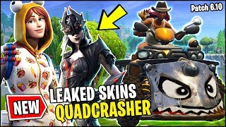 NEW FORTNITE UPDATE - QUADCRASHER VEHICLE BOOST, LEAKED NEW SKINS WIDOWMAKER (Fortnite 6.10 Patch)