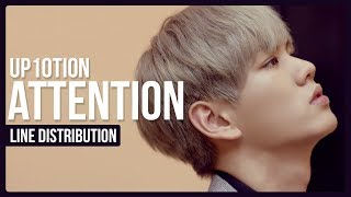 Video UP10TION - Attention Line Distribution (Color Coded) download MP3, 3GP, MP4, WEBM, AVI, FLV Januari 2018
