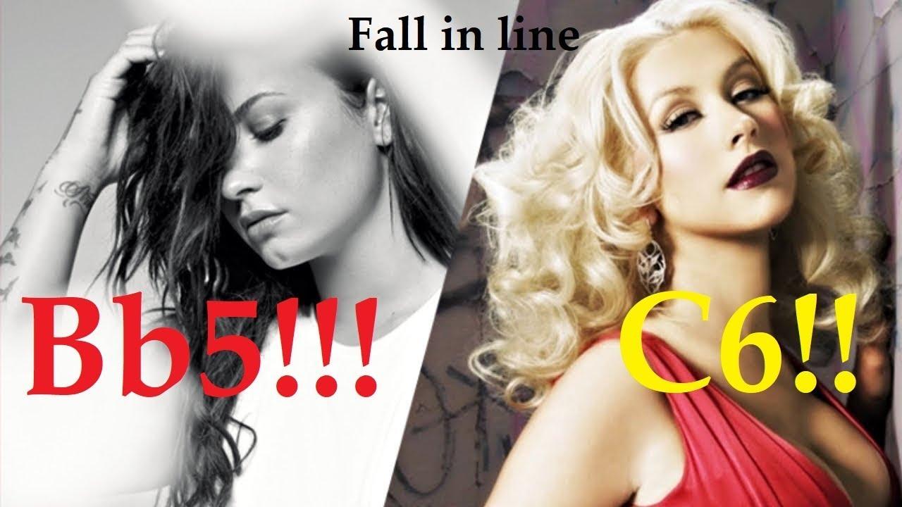 Christina Aguilera & Demi Lovato Fall in line High Notes!! (Bb5 & C6)
