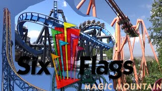 The Roller Coasters of Six Flags Magic Mountain (2016)