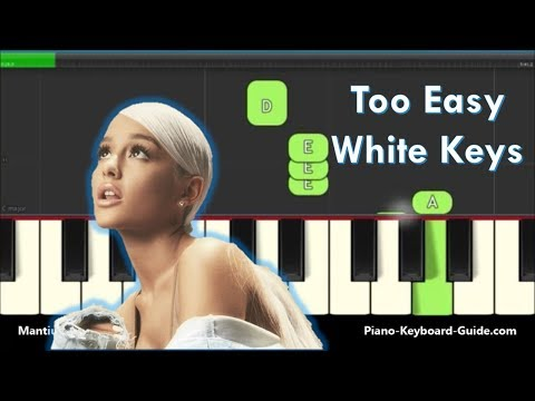 Ariana Grande Thank You Next Slow Easy Piano Notes - Right Hand