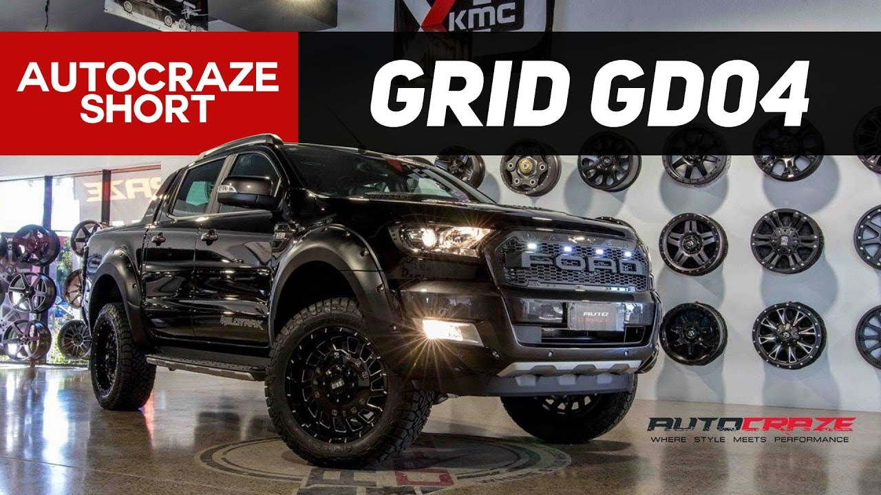 RAMPAGE RANGER // Grid GD04 Wheels + Tough Dog Lift Kit ...