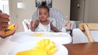 What my Vegan Baby Eats in a day | Raw food ideas
