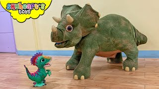 Giant Triceratops Dinosaur Box | Toy Dinosaurs for kids t rex