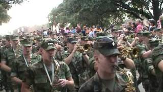 Ballad of The Green Beret - Aggie Band March to Cotton Bowl Yell Practice 12/31/04