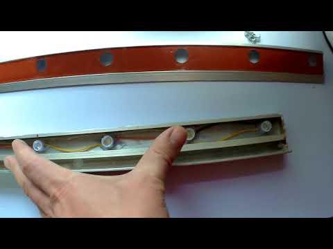 СВЕТОДИОДНЫЙ ПРОЖЕКТОР ДЛЯ МАЛЯРА СВОИМИ РУКАМИ ЛАМПА МАЛЯРА  Самодельная контрольная лампа для проявления всех огрехов на зашпаклёванной поверхности