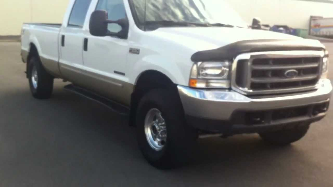 2000 FORD F250 CREW CAB LARIAT LONGBED 4X4 7.3 POWERSTROKE ...