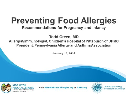 Preventing Food Allergies: Recommendations for Pregnancy and Infancy