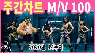 [주간차트 2020년 14주차] 금주의 KPOP 아이돌 뮤직비디오 순위 100 - 2020년 4월 5일 | …