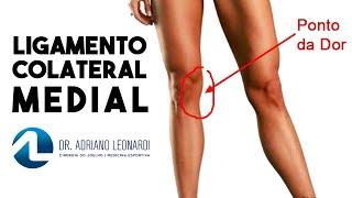 Lesão dorsal de sintomas no ligamento