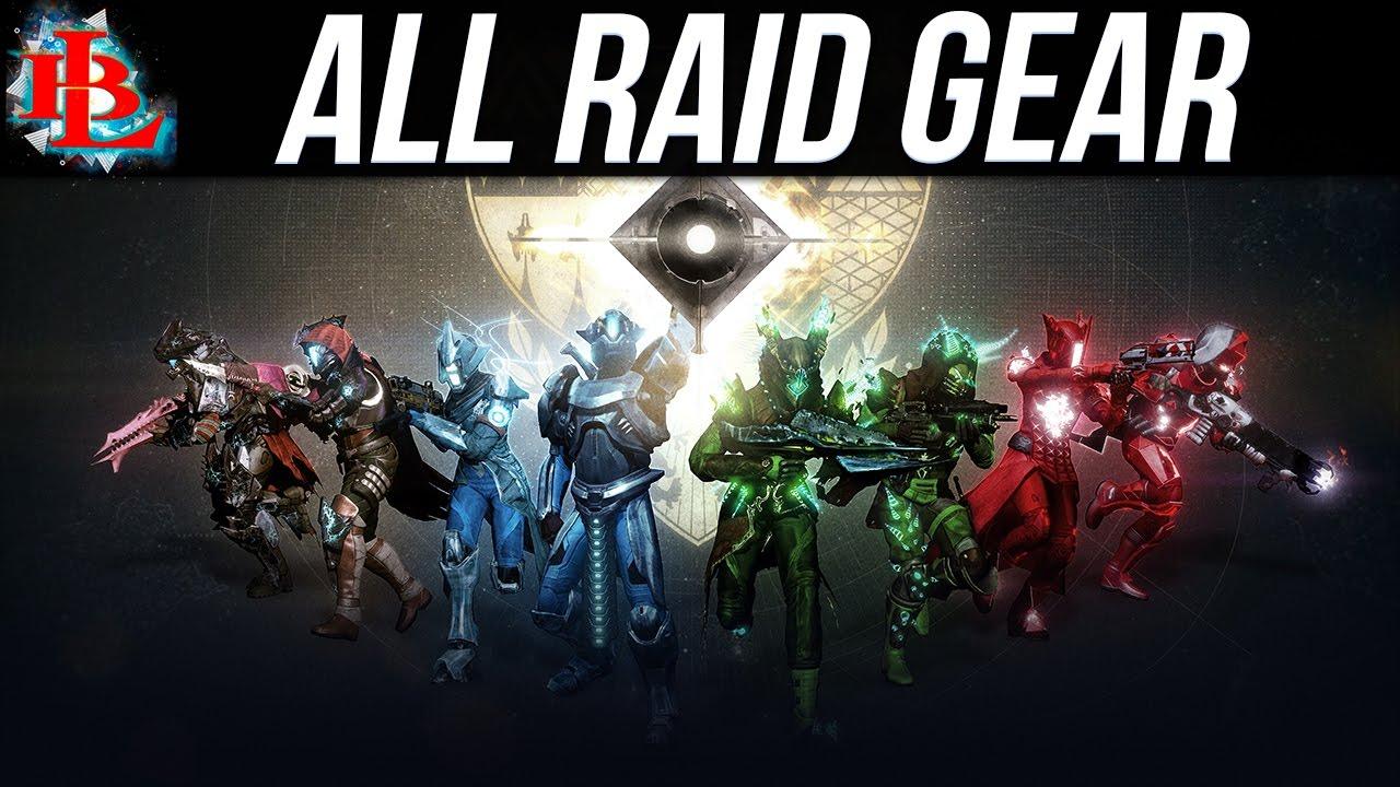 df89bb05e2b Destiny ALL RAID ARMOR SETS in AGE OF TRIUMPH - ALL RAID GEAR - YouTube