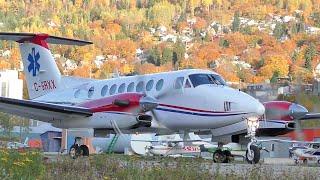 Beechcraft King Air 350 Takeoff - Great PT6 Turboprop Engine Sound!