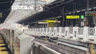 大阪環状線 323系外回り普通天王寺・新今宮方面行き、225系+223系関空紀州路快速、関西空港・和歌山行き。鶴橋同時到着!