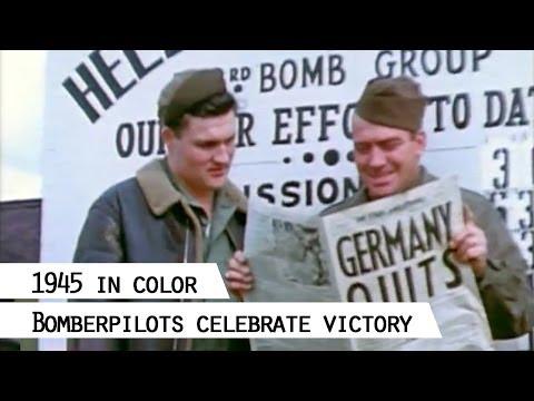 303rd. Bomb Group (Hells Angels) celebrates German surrender, 8.5.1945
