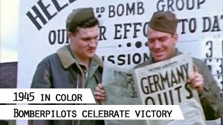 303rd. Bomb Group (Hells Angels) celebrates German surrender, 8.5.1945