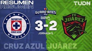 Resumen y goles | Cruz Azul 3-2 FC Juárez | Guard1anes 2020 Liga BBVA MX - J5 |TUDN