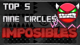 TOP 5 IMPOSIBLES NINE CIRCLES (GEOMETRY DASH)(HD)