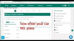 how to check traffic fine in uae