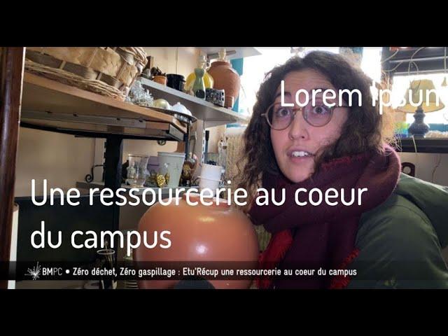 Une ressourcerie au cour du campus bordelais