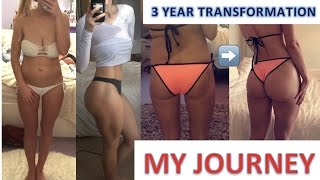 3 YEAR BODY TRANSFORMATION | Fat loss & muscle gain | My journey