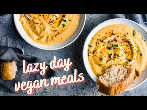 Incredible vegan meals for lazy days