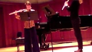 Katherine Hoover:  Sound Bytes for 2 flutes, V and VI