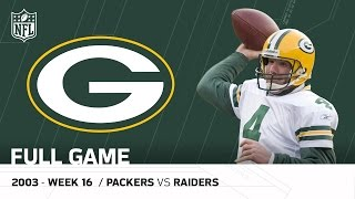 Full Game: Brett Favre Plays on MNF After His Dad's Passing | Packers vs. Raiders | NFL