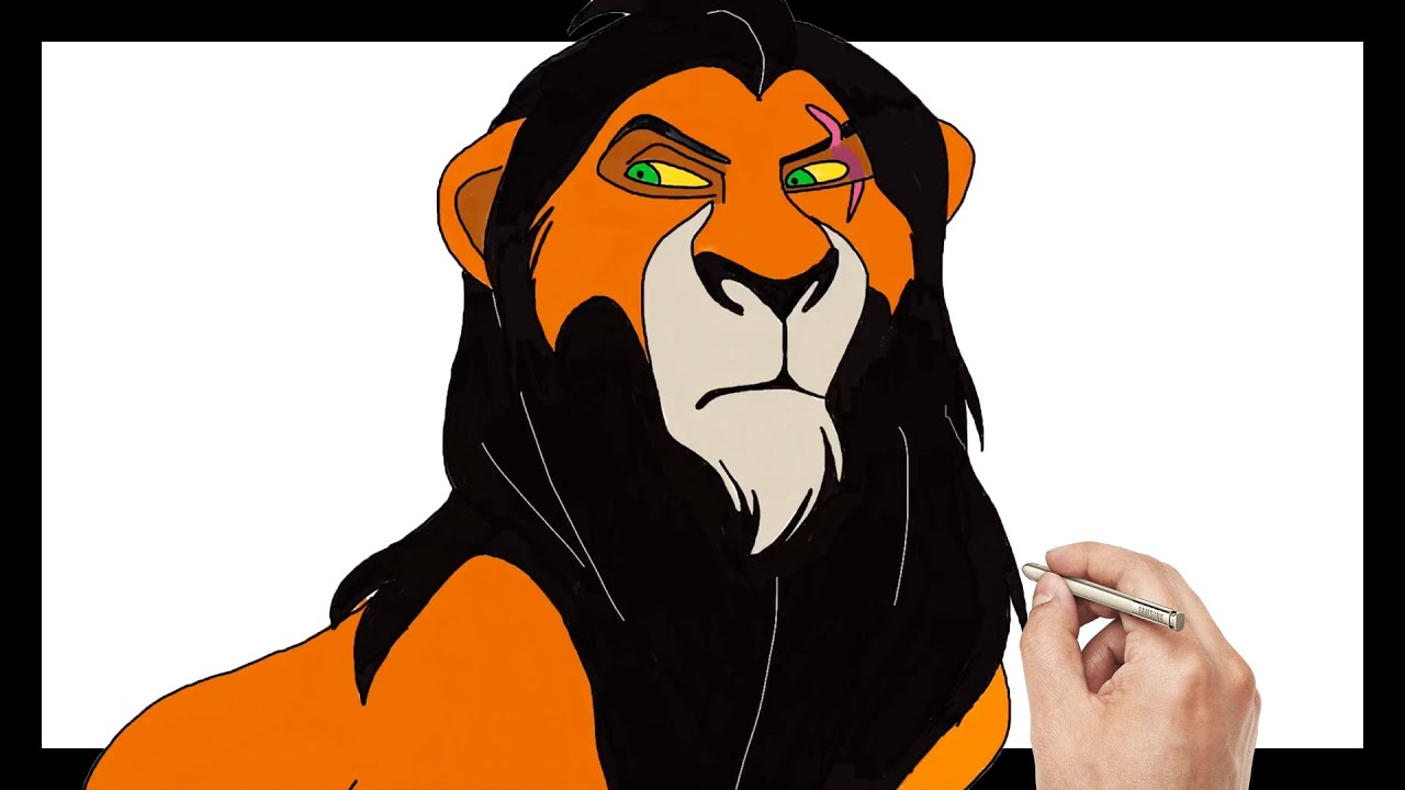 Lion King 2019 Scar Coloring Pages For Kids Drawing For Kids Lion King Learn Art Coloring Kids Youtube