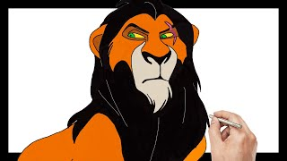 Lion King 2019 Scar Coloring Pages For Kids | Drawing For Kids Lion King Learn Art Coloring Kids